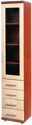 Пенал витрина 400/1В+4Ш Омега