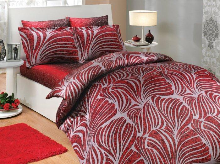 Евро комплект Hobby Premium Sateen Bristol красный