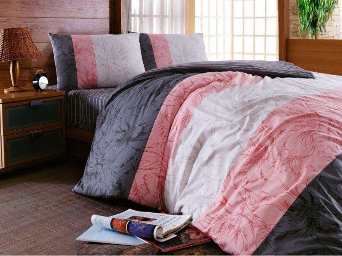 Полуторный комплект Hobby Ranforce Aspendos розовый
