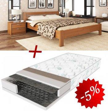 Комплект кровать Рената + матрас Standart 160см