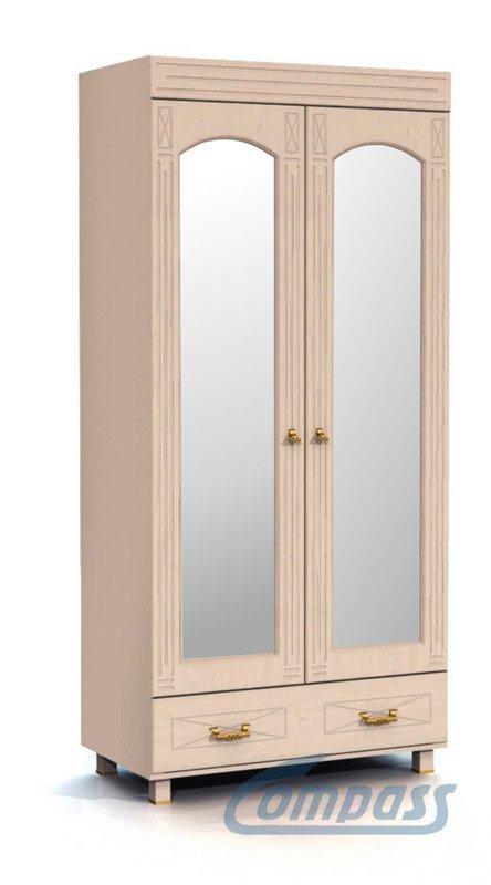 Шкаф платяной с зеркалом Компасс ЭМ-16 Элизабет