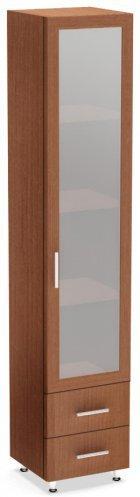 Шкаф с ящиками и стеклом Компасс ШОМ-3