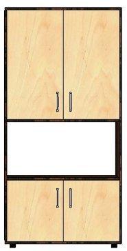 Пенал-стеллаж 4Д «Классик»
