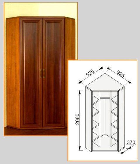 Шкаф угловой 925х925 Модена