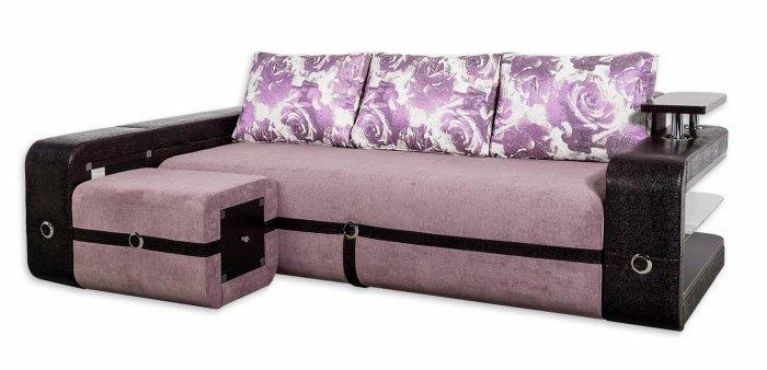 Угловой диван Токио с пуфом