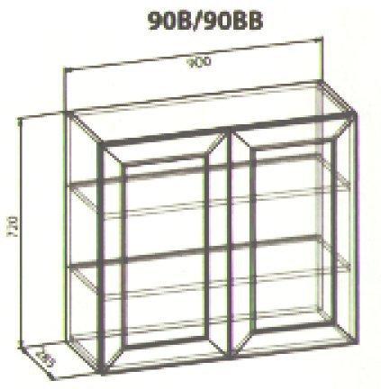90 верх витрина кухня Роял