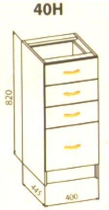 40 низ ящики кухня Алина