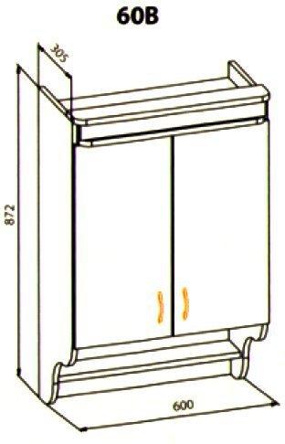 60 верх кухня Ника рамка