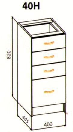40 низ ящики кухня Ника