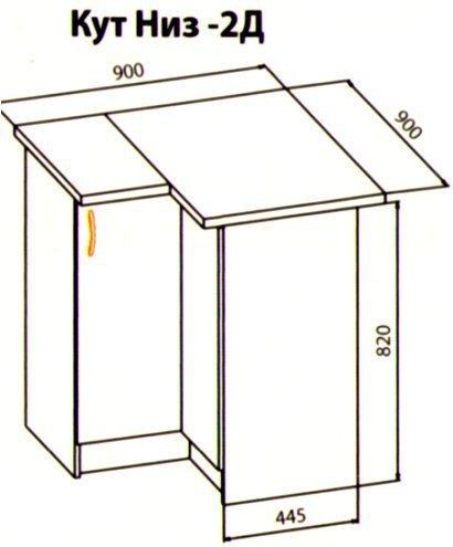 Угол полный 1Дв/2Дв кухня Оля
