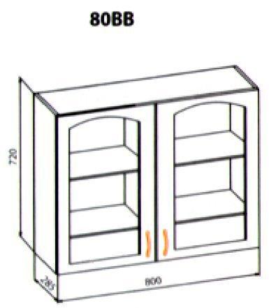 80 верх витрина кухня Барбара