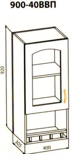 900 40 Верх Витрина кухня Барбара