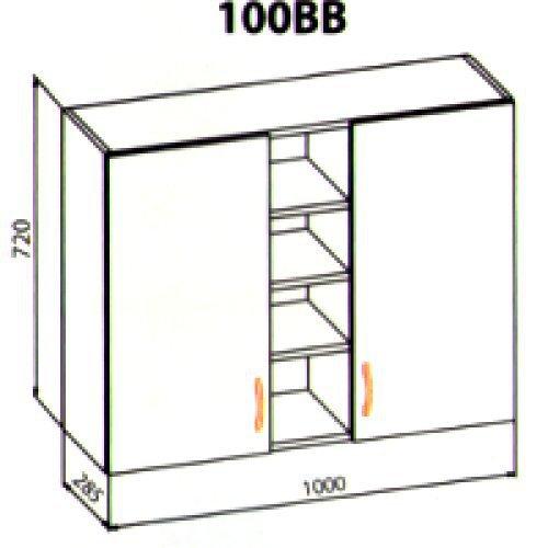 100 верх витрина кухня Ева
