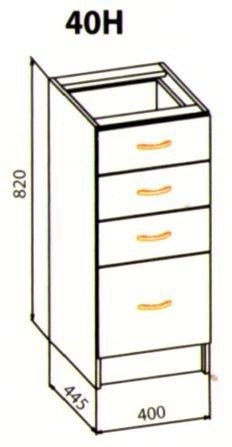 40 низ ящики кухня Ева
