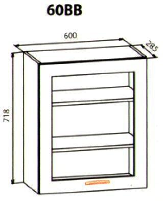 60 верх витрина кухня Милена