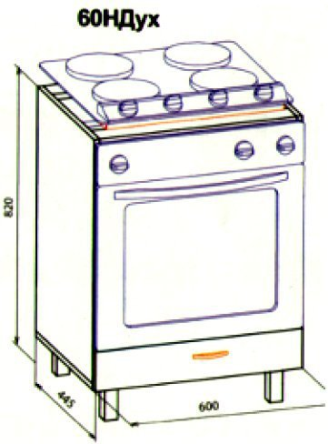 60 низ духовка кухня Паула