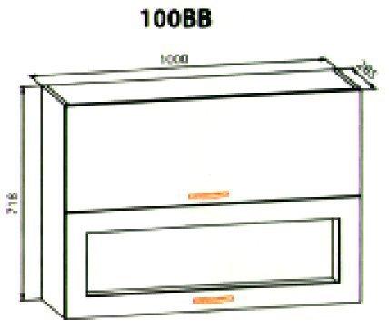 100 верх витрина кухня Кармен