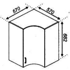 Модуль 57×57 Кухня Оля.Тюльпан