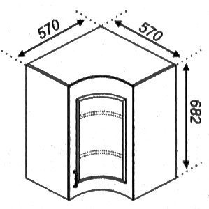 Модуль 57×57Ск Кухня Оля.Тюльпан
