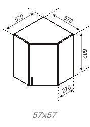 Модуль Р 57×57 Кухня Оля.Тюльпан
