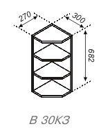 Модуль В 30КЗ Кухня Оля.Тюльпан