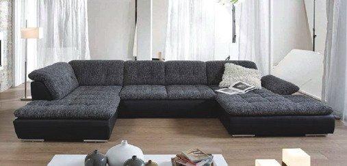 Кожаный модульный диван Мегапол №1