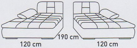 Модуль №5 к кожаному модульному диван у Мегапол