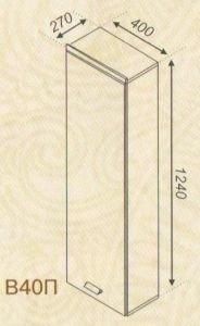 Тумба верхняя В40П Тера