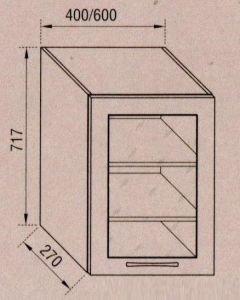 Тумба верхняя В40Ск Адель