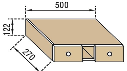 Тумба верхняя В50БШ Валенсия