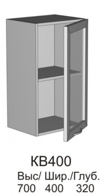 Витрина верхняя МДФ КВ 400 кухни Колибри