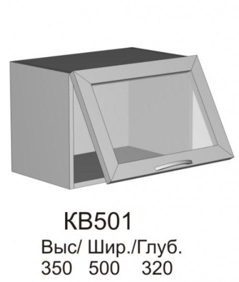 Витрина верхняя МДФ КВ 501 кухни Колибри