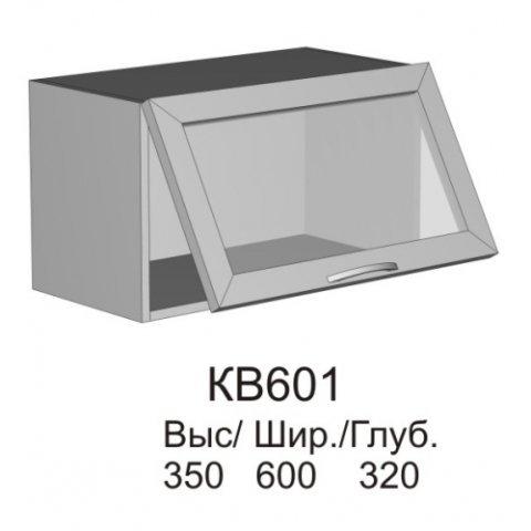 Витрина верхняя МДФ КВ 601 кухни Колибри