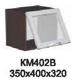 Модуль КМ 402 В (фронт-витрина) кухни Кармен