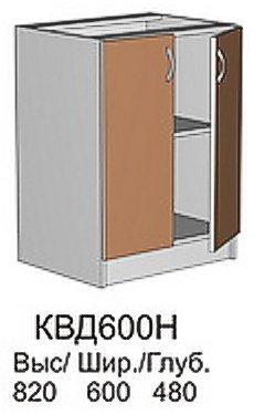 Модуль КВД 600 Н (без столешницы) кухни Квадро