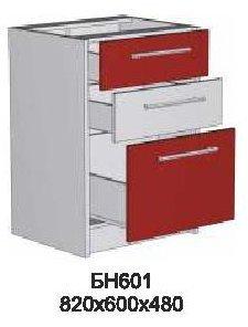 Модуль БН 601 (без столешницы) кухни Бордо