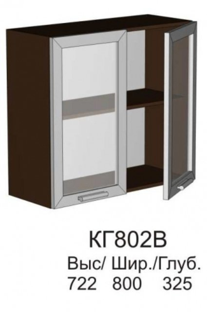 Витрина верхняя КГ 802 В кухни Конго