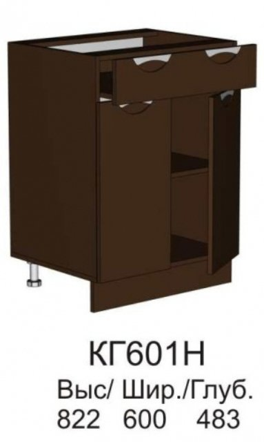 Шкаф нижний КГ 601 Н (без столешницы) кухни Конго