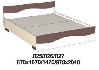 Кровать Л27 Лама