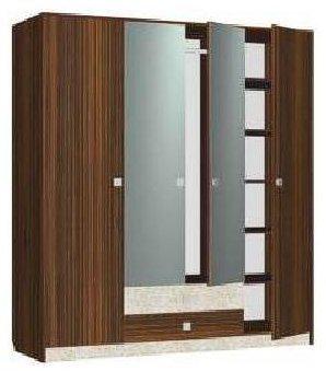 Шкаф четырехдверный МР3 спальни Марта