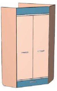 Шкаф-угловой ИН 5 детской Индиго