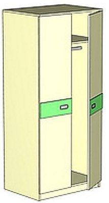 Шкаф-гардероб Д 1 детской Денди