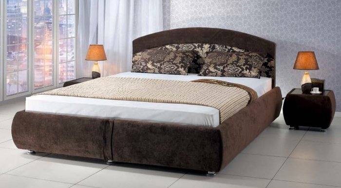 Двуспальная кровать с подъемным механизмом Ванесса 160x200см