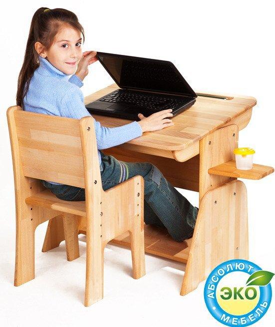 Комплект Школярик парта С-890 + стул С-887 + увеличитель высоты ДК-01