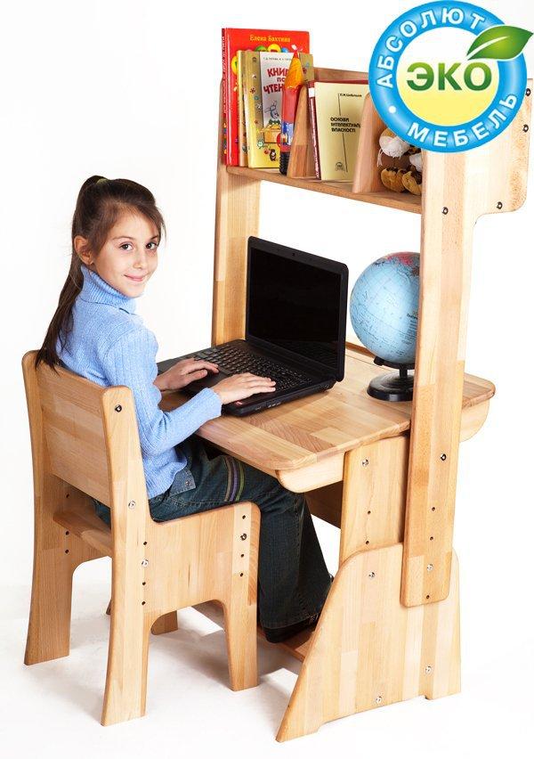 Комплект Школярик парта увеличенная С-884 + стул С-887 + надстройка H-893