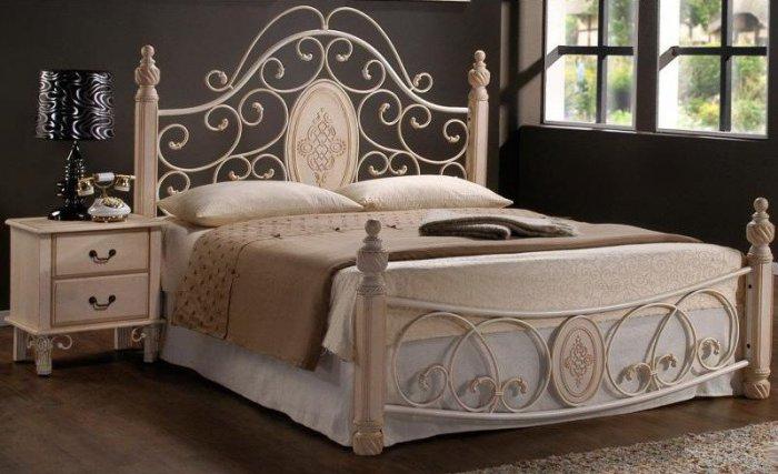 Двуспальная кровать  Pearl-19 white 200x160см