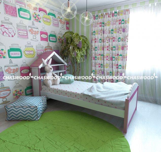 Односпальная кровать Домик