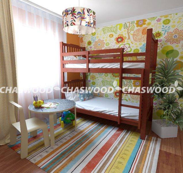 Двухъярусная кровать трансформер Том - 90x190см
