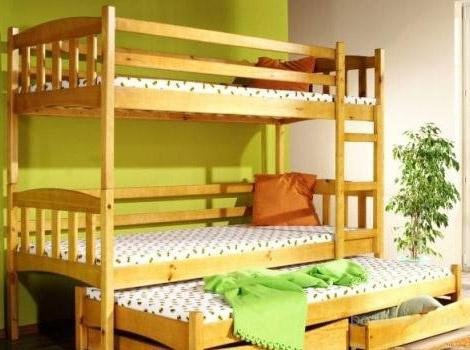 Двухъярусная кровать трансформер Трио+ - 90x190см