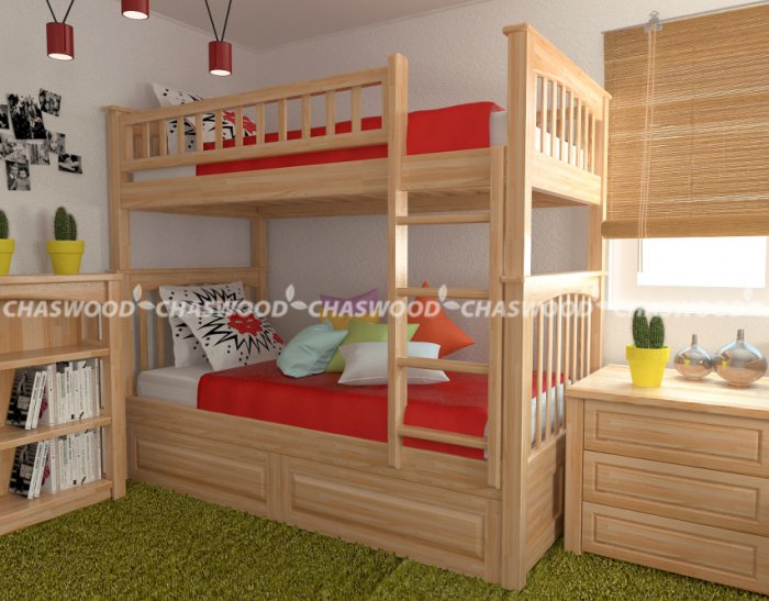 Двухъярусная кровать трансформер Жанна - 90х190см